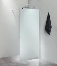 Fritstående væg 80x200cm isglas, med 100cm forhængsstang