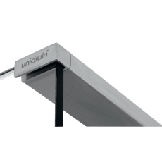 GlassLine Topstang (stål) - 1200- brusevæg venstrestillet