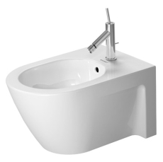 Bidet wall mounted 54 cm starck 2 hvid, with of, with tp, 1