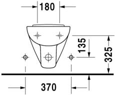 D-code vægbidet 48 cm compact med hanehul