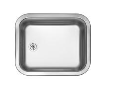 Panda køkkenvask, 40 x 34 cm blank, prop