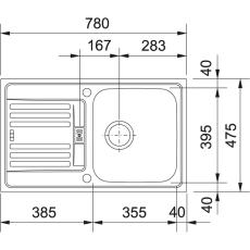 Euroform EFX 614-78 twist vendb,løft-op,v-lås