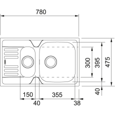 Euroform EFX 651-78 vendb,man.str,v-lås