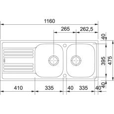 Euroform EFX 621 vendb,manuel str,v-lås