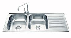 Intra Juvel Horizon 1120D dobbeltvask bakke under planlim