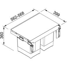 sorter garbo 60-2 2x18l+2x8l