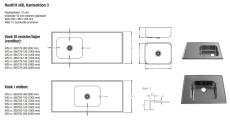 Purus bordplade m/vask 500 x 400 mm bundventil m/strainer 10