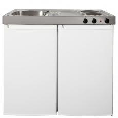 Intra minikøkken 1000 mm vask, køleskab, kogeplade
