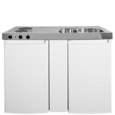 Intra minikøkken 1200 mm vask, køleskab, kogeplade (spejvend