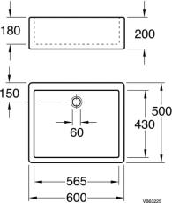 GBG 6322-99 rengøringsvask 60 x 50 cm med overløb hvid