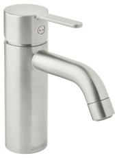 Silhouet håndvaskarmatur small. uden bundventil. steel (pvd)