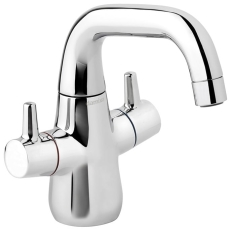 Bell håndvaskarmatur med 2 greb og lav tud
