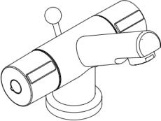 Damixa Titan håndvaskbatteri med bundventil