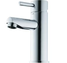 Børma A1 Håndvaskarmatur stainless look 1-grebs med bundvent