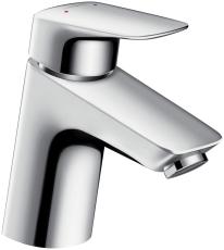 Hansgrohe Logis 70 håndvaskarmatur med løft-op ventil krom