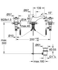 Grohe Sinfonia 3huls håndvaskbatteri