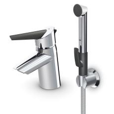 Optima håndvaskarmatur med bundventil med Bidetta og  øko-kn