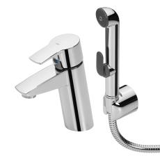 Oras Cubista håndvaskarmatur med bruser og push-up bundventi