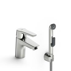 Oras Saga håndvaskarmatur med håndbruser, uden BV, CU rør
