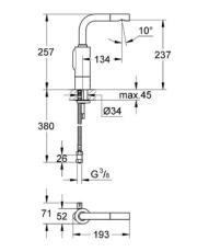 Grohe Essence E elektronisk arm. hv
