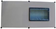 Låg for måler med rude APO61 600 x 300 x 45 mm grå RAL7035