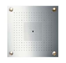 Axor ShowerHeaven Starck 720 x 720 mm med lys