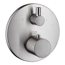 Axor UNO termostat m/afsp.+omsk. Steel-Opt