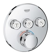 Grohe Grohtherm SmartControl Termostat til indbygning med 3