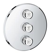 Grohe Grohtherm SmartControl Triple volume kontrol sæt
