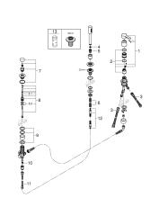Grohe Lineare 3-huls kar- & brusekombination