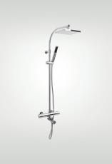 Quadra Brusesæt/Termostatblander/Badekartud 150 Cc Krom