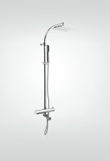 Ellisse Brusesæt/Termostatblander/Badekartud 150 Cc Krom