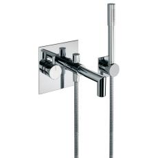 Børma A6 Indbygningsarmatur til bruser/badekar m/bruser krom