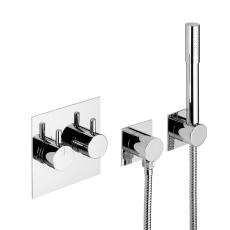 Børma A6 indbygningsarmatur t kar/brus krom med håndbruser-3
