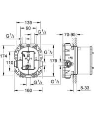 Grohe Rapido T indbygningsdel til termostat