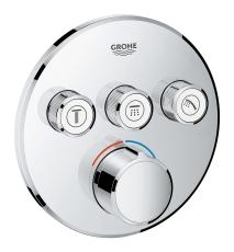 Grohe SmartControl Indbygget termostat med 3 ventiler