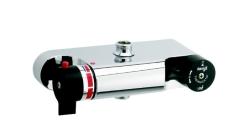 Damixa TMC termostatbatteri spejlvendt kar/brus
