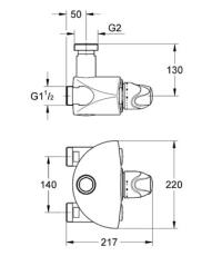 Grohtherm XL termostatbatteri DN 32
