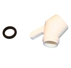 Damixa bøjning m/tap perlespray hvid