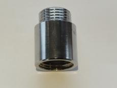 """1/2"""" x 15mm Haneforlænger, krom"""
