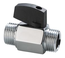 Securex 11-2720 DN10 nippel/nippel forkromet med greb