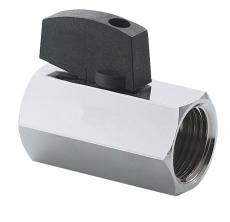 Securex 16-2720 DN10 muffe/muffe forkromet med greb dr