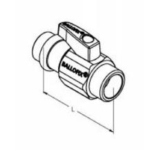 """Ballofix pres 15 mm x 1/2"""" nippel"""