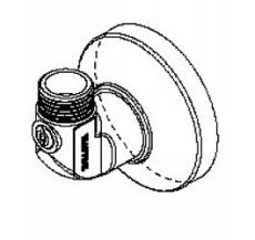 12/15 mm Wallfix u/håndtag vinkelløbende