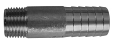 "3/4"" x 26,9 mm Glat slangenippel"