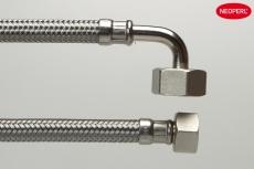 150 cm Slange til vaskemaskine stål