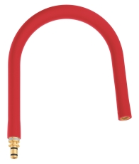 Grohe Grohflex prof-slange, fleksibel silikoneslange - Rød