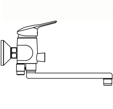"""Børma Tud 320 mm krom 1/2"""""""