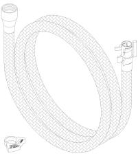 Slange 1500 mm