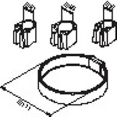 Damixa Reperationssæt sæbeskål Ø 111 mm krom incl. 3 holdere